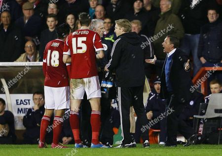 Editorial image of Sky Bet Championship 2013/14, Nottingham Forest v Leicester City, City Ground, Nottingham, Britain - 19 Feb 2014