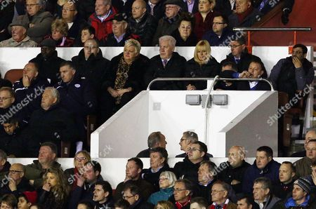 Stock Image of Nottingham Forest manager Billy Davies (right) watches the second half from the stand
