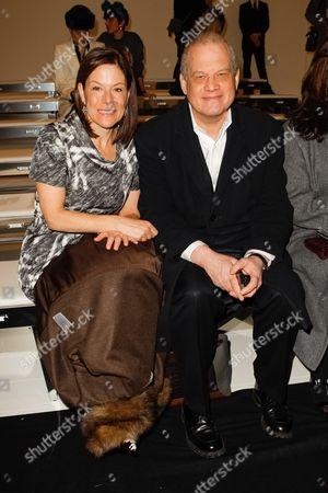 Stock Image of Fairchild Fashion Media's Gina Sanders and Edward Nardoza