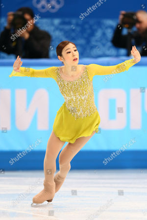 Yu-Na Kim (KOR) competes during the ladies' short program of figure skating