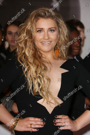 Editorial image of The Brit Awards, Arrivals, O2 Arena, London, Britain - 19 Feb 2014