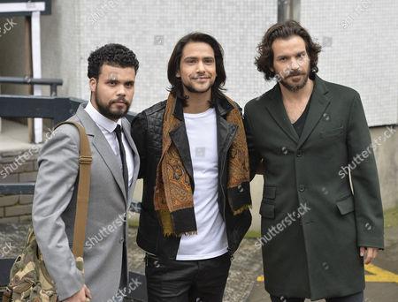 Howard Charles, Luke Pasqualino and Santiago Cabrera