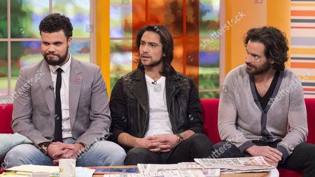Howard Charles, Luke Pasqualino and Santiago Cabrera.