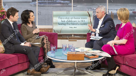 Gordon Smart and Lesley Joseph with Eamonn Holmes and Ruth Langsford.