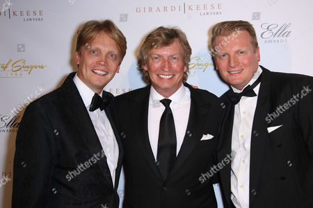 Stock Picture of Nigel Lithgoe with Sons Simon Lythgoe, Kris Lythgoe