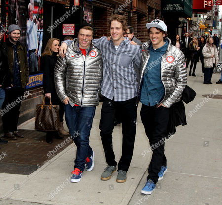 Olympic Ski Slopestyle Silver Medalist Gus Kenworthy, Gold Medalist Joss Christensen, and Bronze Medalist Nick Goepper
