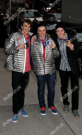Olympic Ski Slopestyle Gold Medalist Joss Christensen, Ski Silver Medalist Gus Kenworthy and Ski Bronze Medalist Nick Goepper