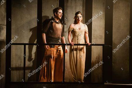 Stock Image of 'King Priam' - Nicholas Sharratt (Paris) and Niamh Kelly (Helen)