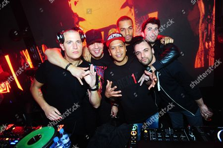 Editorial photo of Dr. Dre and wife Nicole Young party at Club 79, Paris, France - 21 Feb 2014