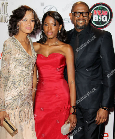 Forest Whitaker, wife Keisha Whitaker and daughter True Whitaker