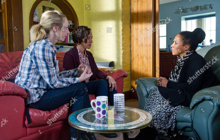 Ep 6684 - Monday 14 October 2013 Ali Spencer [KELLI HOLLIS] apologises to Ruby Haswell [ALICYA EYO]  and suggests they clear the air with Lindy [NIMMY MARCH]. She reluctantly agrees, dreading the idea. Rubyís nervous as she waits for Lindy, not wanting to go through with telling her. They hear her taxi pull up and Ali assures her theyíre in this together but sheís put out when Ruby pulls away from her. Itís awkward as Lindy asks about Ali and the kids, wondering if she and Ruby are lodgers. Will Ruby be able to go through with finally telling her mother she and Ali are a couple?