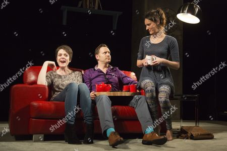 Lu Corfield, Rufus Wright and Phoebe Waller-Bridge.