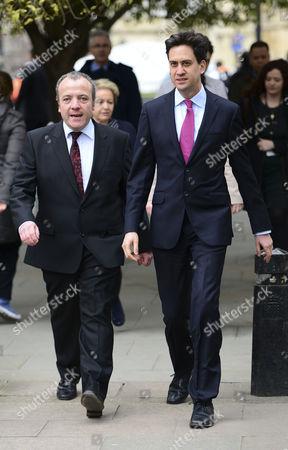 Mike Kane and Ed Miliband