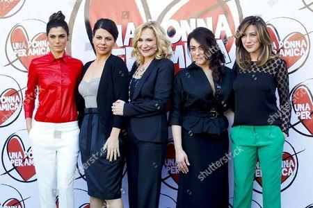 Geppi Cucciari, Monica Scattini, Virginia Raffaele, Valeria Solarino and Valentina Lodovini