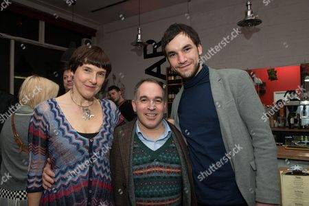 Stock Photo of Diane Samuels (book writer), Neil Marcus (producer) and Michael Peavoy