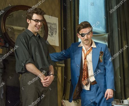 Stock Image of Harry Hepple as Geoffrey, Dean Lennox Kelly as Peter,