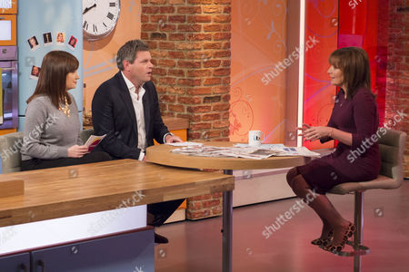 Esther Addley and Mark Durden-Smith with Lorraine Kelly