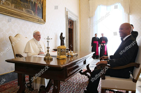 President of Haiti Michel Martelly and Pope Francis I