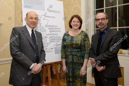 Anthony d'Offay, Maria Miller and Stephen Deuchar (ART Fund)
