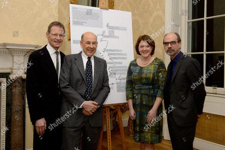 Sir Nicholas Serota, Anthony d'Offay, Maria Miller and Stephen Deuchar (ART Fund)