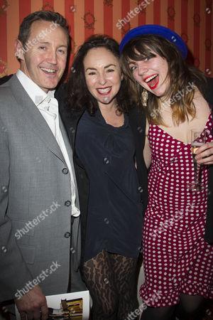 Stock Photo of Mark Leadbetter, Samantha Spiro and Poppy Rowley