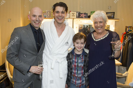 Daniel Evans (Director), Kenny Doughty (Gaz), Jack Hollington (Nathan) and Lynda Bellingham