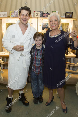 Kenny Doughty (Gaz), Jack Hollington (Nathan) and Lynda Bellingham