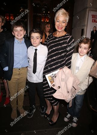 Denise Welch and son Louis Healy (2nd left)
