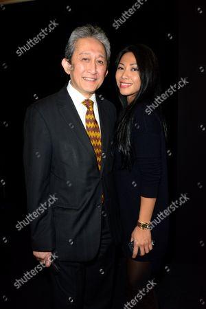 Rezlan Ishar Jenie, Ambassador of Indonesia in France, with Anggun