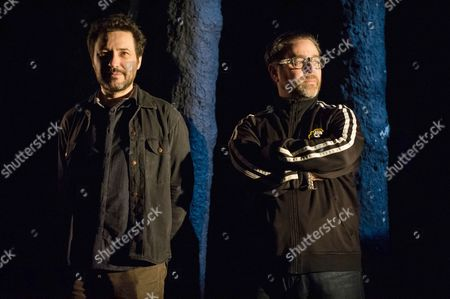 Jeremy Dyson (writer/director) and Andy Nyman (writer/director) in the forest.