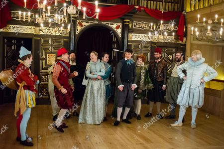 Editorial picture of 'The Knight of the Burning Pestle' play at the Sam Wanamaker Studio, Shakespeare's Globe, London, Britain - 25 Feb 2014
