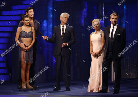 Sam Attwater and Vicky Ogden, Phillip Schofield, Jayne Torvill and Christopher Dean  Dancing On Ice, Elstree, Britain