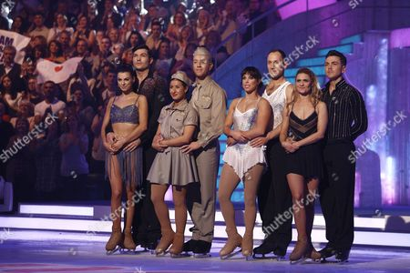 Sam Attwater and Vicky Ogden, Hayley Tamaddon and Dan Whiston, Beth Tweddle and Lukasz Rozycki, Maria Filippov and Ray Quinn  Dancing On Ice, Elstree, Britain