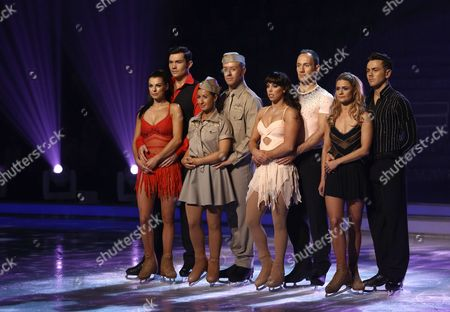 Vicky Ogden, Sam Attwater, Hayley Tamaddon, Dan Whiston, Beth Tweddle, Lukasz Rozycki, Maria Filippov and Ray Quinn  Dancing On Ice, Elstree, Britain