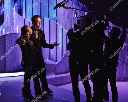 Stock Picture of Behind the scenes. Kyran Bracken and Nina Ulanova