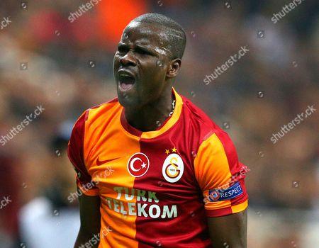 Emmanuel Eboue of Galatasaray shouts