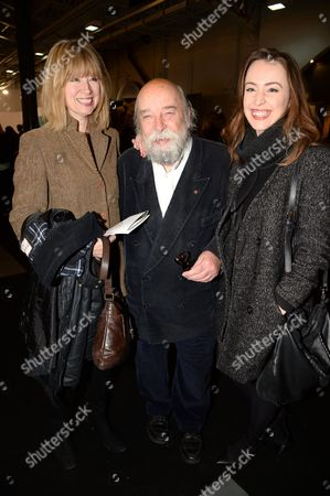 Sir Roy Ackerman with wife and daughter