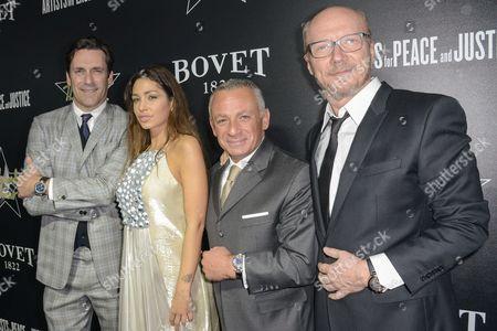 Stock Photo of Jon Hamm, Sofia Valleri, Pascal Raffy, Paul Haggis