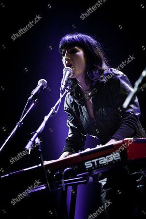 Singer and musician Joan As Police Woman live at Amager Bio in Copenhagen. Denmark 2011.