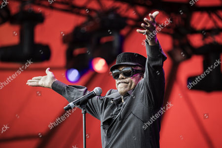 The American soul-singer Bobby Womack performs live concert at Roskilde Festival 2013. Denmark.