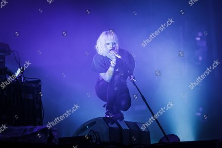 The Canadian electronic band Crystal Castles performed a live concert at the Arena Stage at the Roskilde Festival 2013. The band consists of producer Ethan Kath and singer Alice Glass (pictured) who both have a background in punk music. Denmark 2013