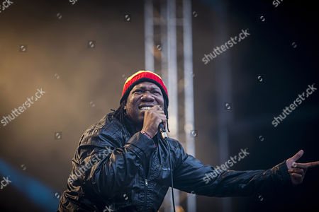 The American rapper KRS-One live on stage at the German outdoor festival Splash Festival 2013. Germany 2013.
