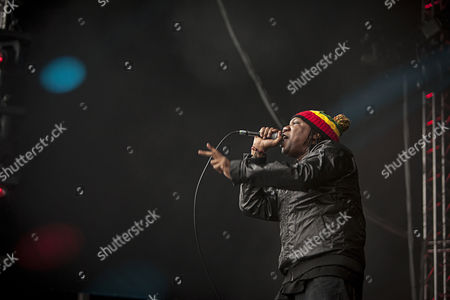 The American rapper KRS-One pictured giving the hip-hop fans a lecture of rap at the German outdoor festival Splash Festival 2013. Germany 2013.