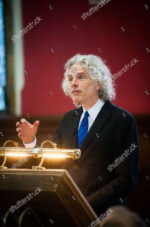 Editorial image of Professor Steven Pinker at The Oxford Union, Britain - 27 Feb 2014