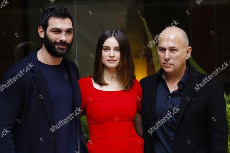 Ferzan Ozpetek with Francesco Arca and Kasia Smutniak