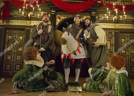 Dennis Herdman as Tim, Hannah McPake as Mistress Merrythought,  Matthew Needham as Rafe Dean Nolan as George, Giles Cooper as Michael