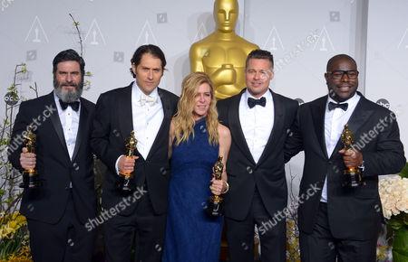 Anthony Katagas, Jeremy Kleiner, Dede Gardner, Brad Pitt and Steve McQueen