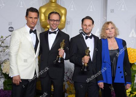 Matthew McConaughey, Laurent Witz, Alexandre Espigares and Kim Novak