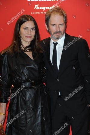 Christopher Thompson and his wife Geraldine Pailhas