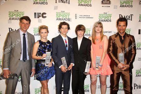 Stock Image of Jeff Nichols, Reese Witherspoon, Tye Sheridan, Jacob Lofland, Bonnie Sturdivant and Matthew McConaughey